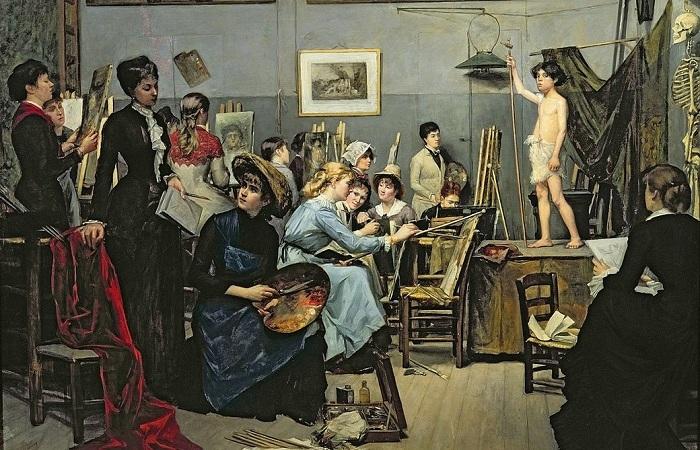 В студии». (1881). Автор: Мария Башкирцева.